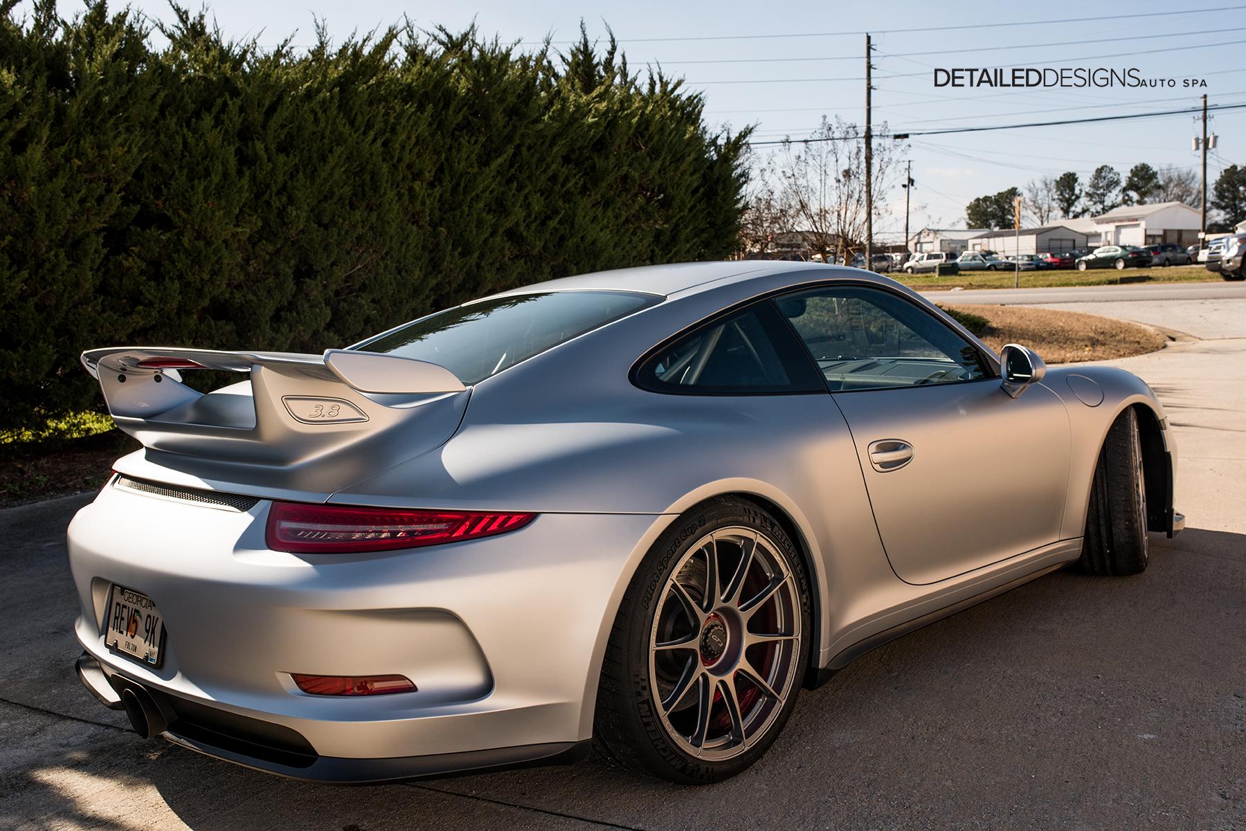 Porsche Experience Center >> Rhodium Silver Porsche GT3 Xpel Stealth Wrap Atlanta - Detailed Designs Auto Spa