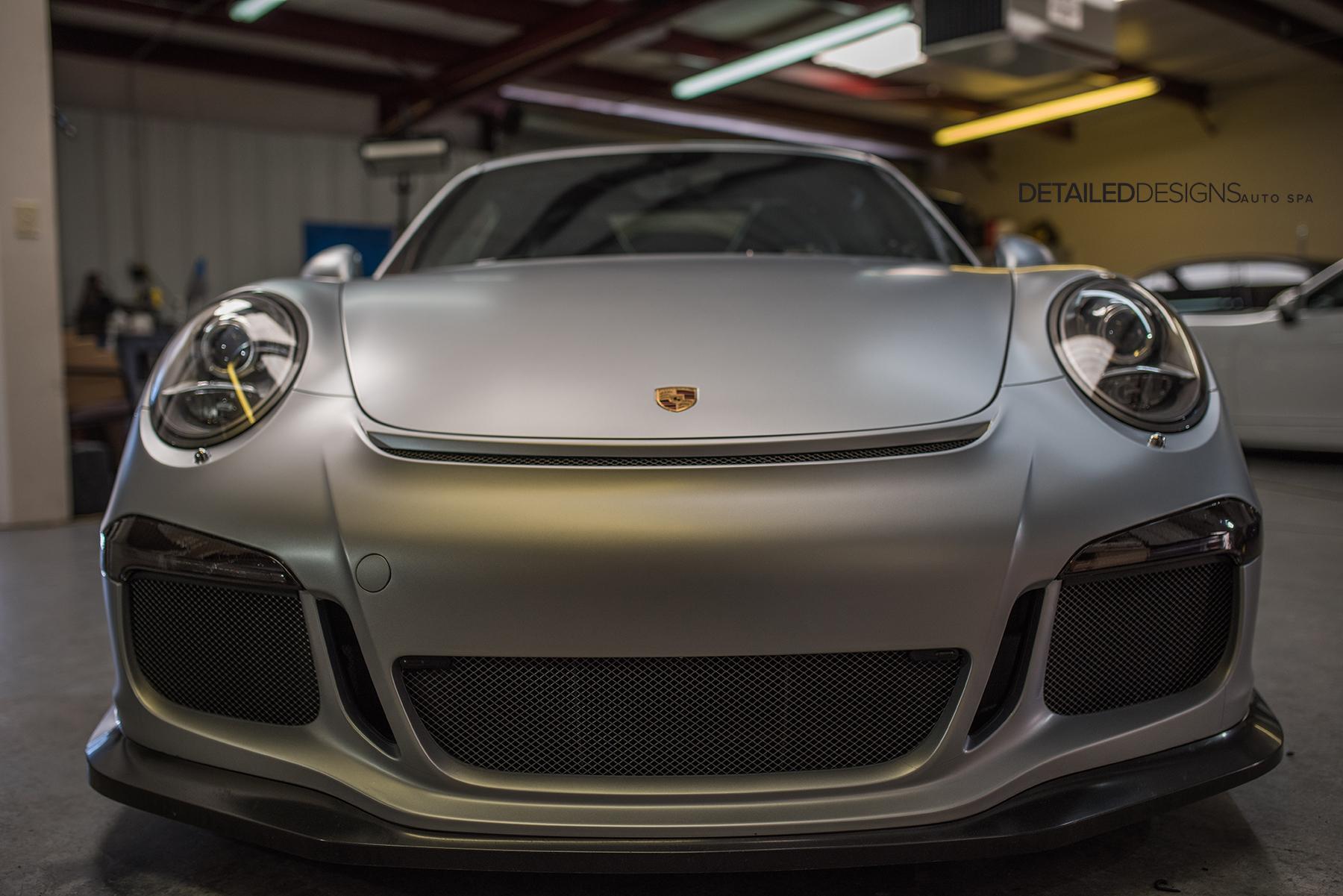 Rhodium Silver Porsche Gt3 Xpel Stealth Wrap Atlanta